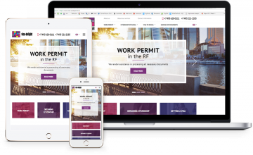 Разработка адаптивного сайта и сервиса для оформления визы в Россию с онлайн оплатой услуг