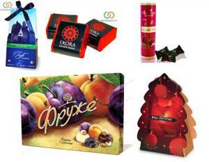 Шоколадные конфеты в подарок на Новый год