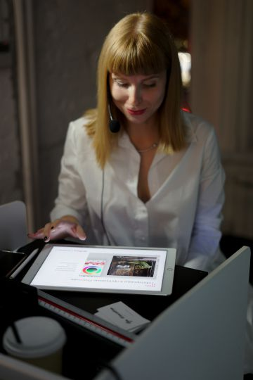 Скетч интерьера на iPad