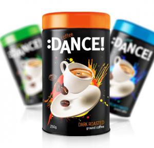 Новый бренд натурального молотого кофе «Coffee: Dance» в яркой упаковке от iQonic