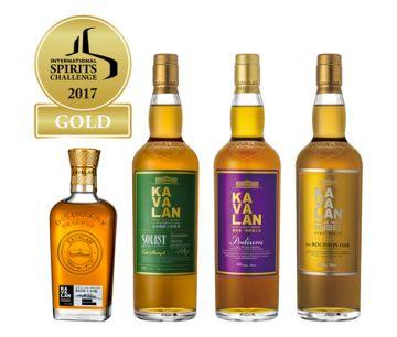 Kavalan собирает золотой урожай на 22-м конкурсе International Spirits Challenge