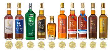 С наградами San Francisco World Spirits Competition число золотых медалей Kavalan достигает 220