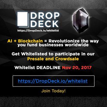 DropDeck.io: в основе финансовых инвестиций будущего лежат искусственный интеллект, децентрализация и поощрения