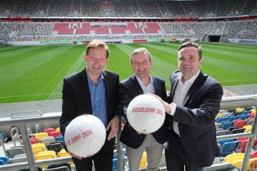 Press Service of the State Capital of Düsseldorf: German Football Association Presented Logo of the German Application for the EURO 2024 - Düsseldorf one of the Locations