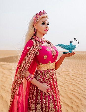 Русская Барби Таня Тузова завершила в Дубае съемки клипа на свою песню Я-Живая