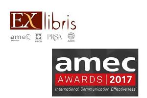 Агентство Ex Libris вошло в список финалистов AMEC AWARDS 2017 в номинации «Best measurement of a B2B campaign»