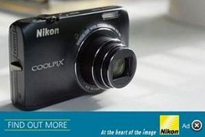 Nikon первым в Европе запустил контекстную рекламу на изображениях