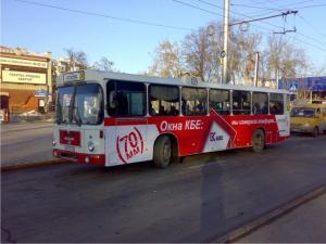 Реклама на транспорте в Тюмени
