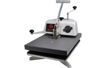 Горизонтально-поворотный термопресс для плоских поверхностей толщиной до 6 см.