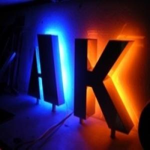 Производство объемных световых букв
