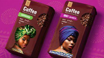 Брендинговое агентство Wellhead разработало новый логотип и дизайн упаковки кофе собственной торговой марки компании ЛЕНТА