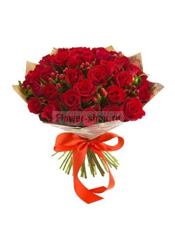 Закажи доставку прекрасных букетов из роз в компании Flower-shop.ru