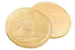 Шоколадная медаль 25 гр. с логотипом