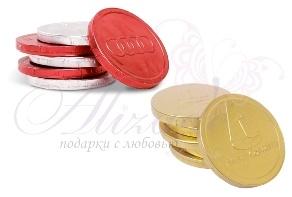 Шоколадные монеты 6гр. с логотипом