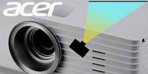 P5227 и P5327W - новые проекторы Acer, которые можно удобно поставить сбоку от экрана, не тратясь на потолочный монтаж