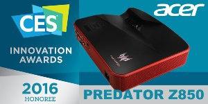 Лазерный игровой проектор Acer Predator Z850 получил награду крупнейшей выставки бытовой электроники