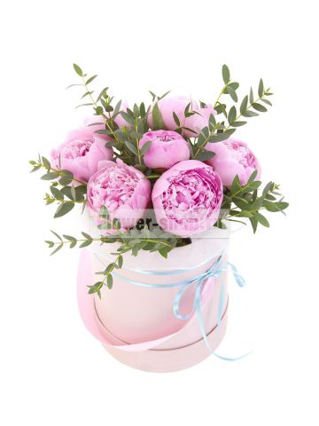 Роскошные букеты пионов с доставкой от службы Flower-shop.ru
