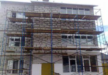 Монтаж строительных лесов специалистами компании «Алеся Д»