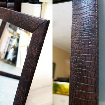 «Территория Декора»: кожаный багет для зеркал – тренд 2017 года