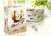 BoxSide - брендинг и дизайн упаковки прессованного фигурного сахара «Чайкофский Mon Cafe» для компании Руссагро
