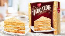 Торт «Наполеон» от «Русской Нивы» теперь выходит в новом дизайне