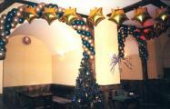 Новогоднее оформление шарами