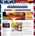 Запуск сайта сети ресторанов Manhattan Pizza|Cheeseburg