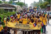 Саентологические добровольные священники приняли участие в Дне флага Гаити