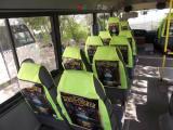 Реклама в транспорте на сидениях - чехлах подголовниках г. Ростов-на-Дону формат А3