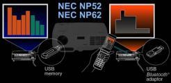 Новые проекторы NEC NP52 и NEC NP62 читают презентации с любого телефона