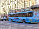 Реклама на транспорте путешествует по Невскому проспекту