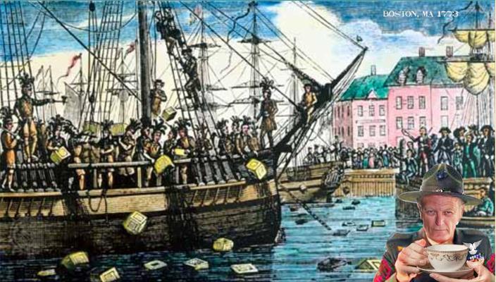 В 1773 году английским парламентом был введен так называемый чайный закон, согласно которому монополия на торговлю