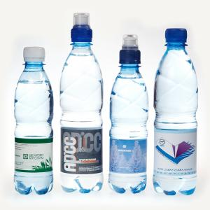 Вода минеральная с логотипом