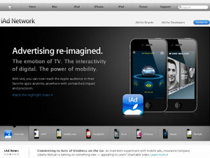 Apple выпустила первую рекламу iAd для iPad