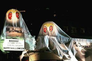 Burger King «нарядил» ресторан в призрак McDonald's и напугал посетителей бургерами конкурента