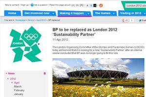 """Активисты """"расторгли"""" контракт BP с Олимпиадой-2012 с помощью фальшивой новости"""