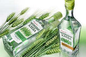 В Allberry разработано оформление водки «Молодые Хлеба» для Empiria