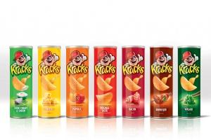 Чипсы Kracks обновляют упаковку