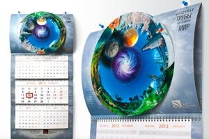 """Креативный календарь для ТМК от студии EPS Creative """"Мир внутри"""""""
