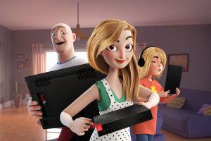 Новые лица рекламной кампании «Дом.ru» - семья мультгероев