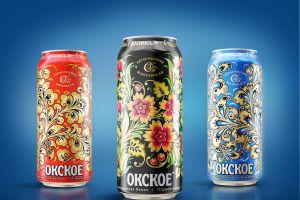 Нижегородские художники украсили банки «Окского» хохломской росписью