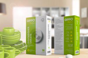 OPPO! В брендинговом агентстве BrandLab разработали новый бренд таблеток для посудомоечных машин