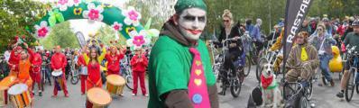 """Всемирный  День без Автомобиля Москва отметила  Вело-Карнавалом и """"Не авто шоу""""."""