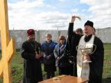 Молебен на освящение места строительства будущего храма