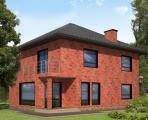 Вентилируемый фасад в стиле клинкерного кирпича.