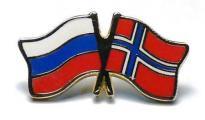 Значки в виде перекрещивающихся флагов  РФ и ФРГ