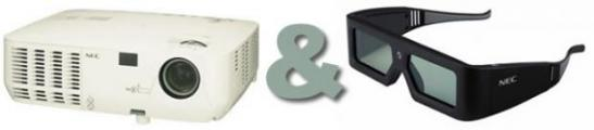 NEC NP216 - первый 3D проектор в комплекте с 3D очками