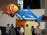 Печать фото на летающих радиоуправляемых рыбах