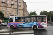Городские автобусы превратились в автомобили Mazda