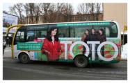 """""""ТОТО"""" переодели автобусы к весне"""